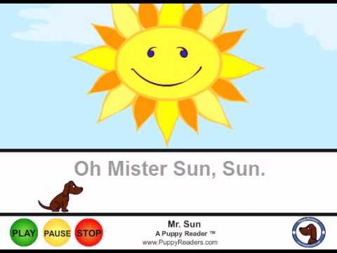 Oh, Mr. Sun:  Animated Song for Kids