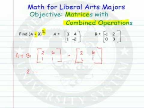Matrices with Combined Operations