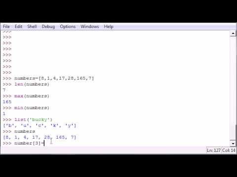 Python Programming Tutorial - 12 - More List Functions