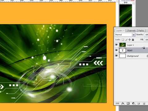 How To Clip  Layers Together In Adobe Photoshop CS3