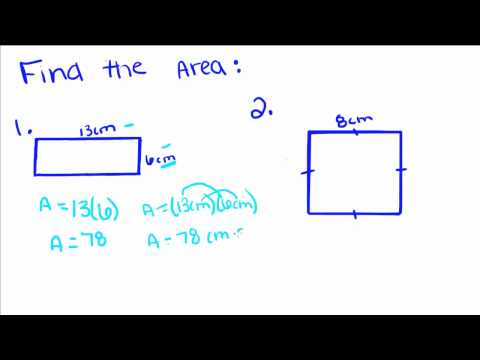 Introduction to Geometry - 52 - Area of Rectangles and Squares