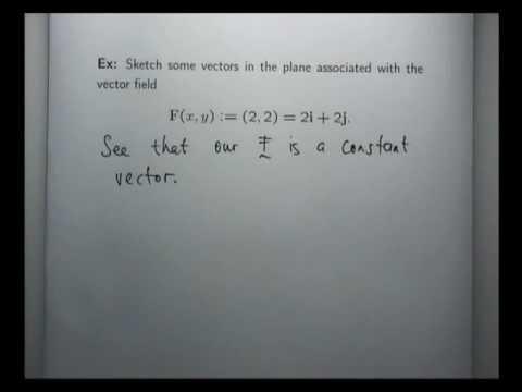 Sketch constant vector field