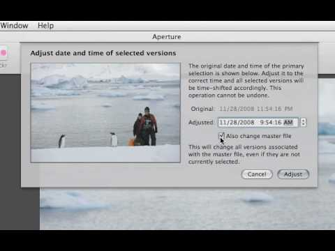 Aperture 3 Tutorials : 2.7 - Organizing - Adjusting Date and Time