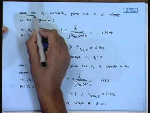 Mod-01 Lec-15 Lecture-15-Multicollinearity (Contd...1)