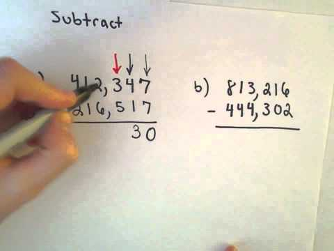 Subtracting Whole Numbers , Example 3, Longer Examples