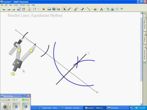 Constructing Parallel Lines Equidistant Method