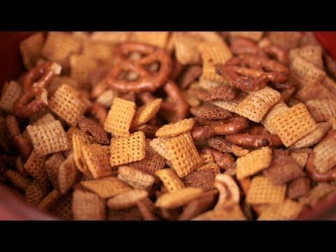 Homemade Chex Mix Recipe (How to Make) || KIN EATS