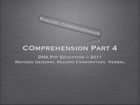 Revised GRE Verbal Section Reading Part.4