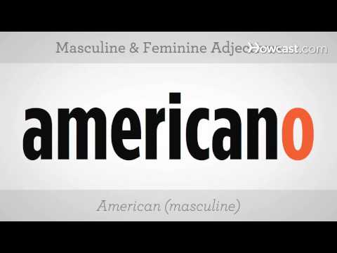 Learn Spanish / Masculine and Feminine Adjectives