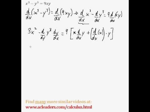 Implicit Differentiation (Calculus) - Easy Example! (Pt. 3)