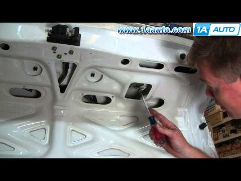How To Install Replace Trunk Lock Cylinder Key Honda Accord 94-97 Prelude 92-96 1AAuto.com