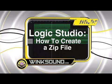 Logic Pro: How To Create a Zip File | WinkSound