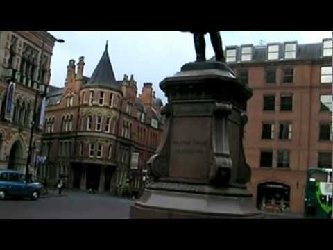 Manchester Town Hall:  Plaza and Walking In