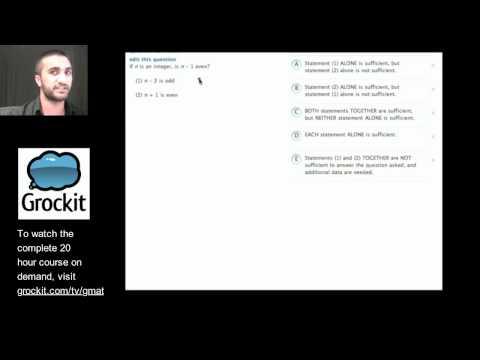 Grockit GMAT TV Lesson 2, Part 4 (Quantitative Data Sufficiency)