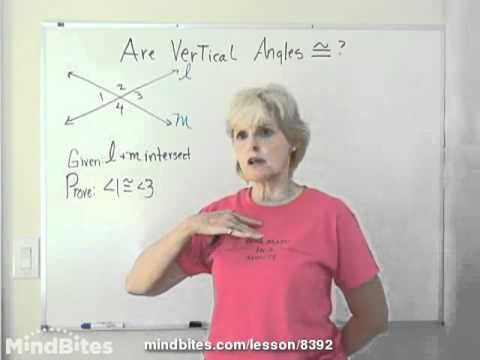 How To Prove Vertical Angles Are Congruent