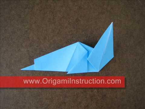 How to fold Origami Simple Sea Dog - OrigamiInstruction.com