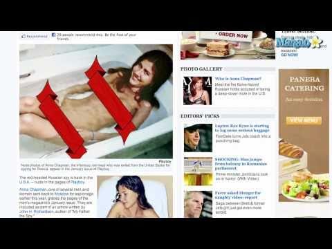 Anna Chapman Nude Photos in Playboy