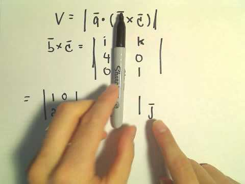 Volume of a Parallelpiped Using Vectors (Multivariable Calculus)