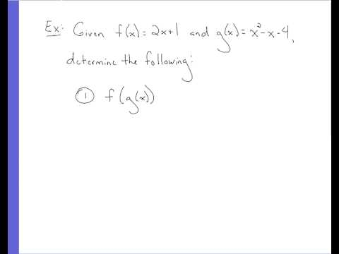 Algebra - Function Notation cont.