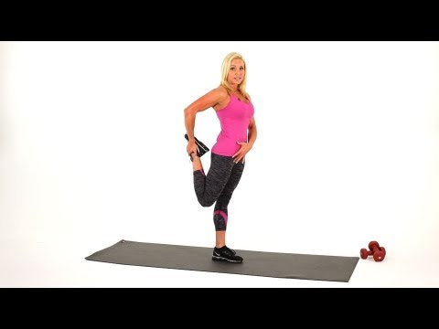 Leg Stretches: Standing Quad Stretch | Sexy Legs Workout