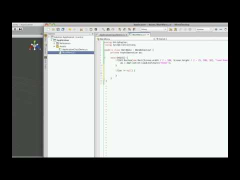 Unity3d Tutorial: Application Class Part 8 - LoadLevelAsync