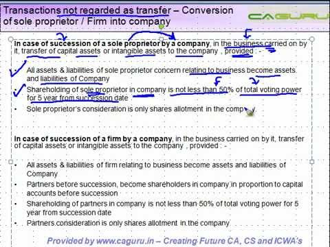 12 Transactions not regarded as transfer    Conversion of sole proprietor or Firm into company