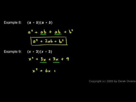 Algebra Review 3.5 - Polynomials
