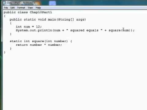 InfiniteSkills Tutorial | Java Programming - Defining A Method | Training Essentials