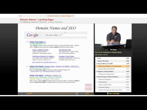 Internet Marketing: Domain Names and Landing Pages