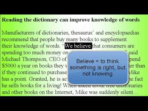 Learn American Accent English Lesson #41 Dictionary!