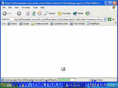 Outlook 2003 Tutorial Finding a Contact's Address Microsoft Training Lesson 2.16