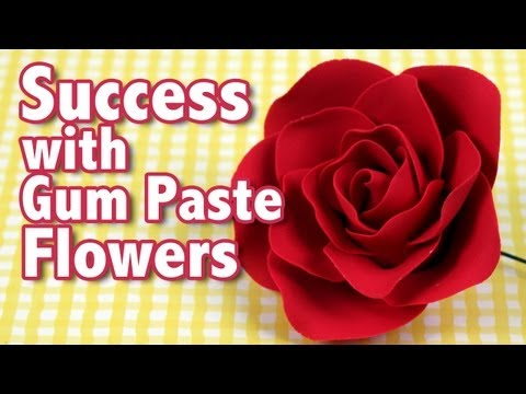 Success with Gum Paste Flowers | Cake Business Tips