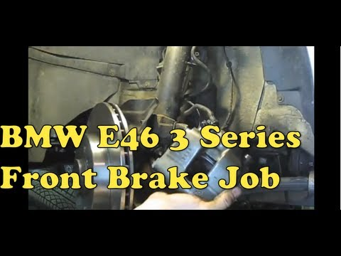 BMW Brake Repair (Front Pads, Rotors and Calipers - E46, E36) MillerTimeBmw - DIY 11