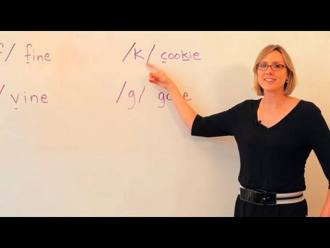 "English Pronunciation: ""K"" vs. ""G"" Sounds"