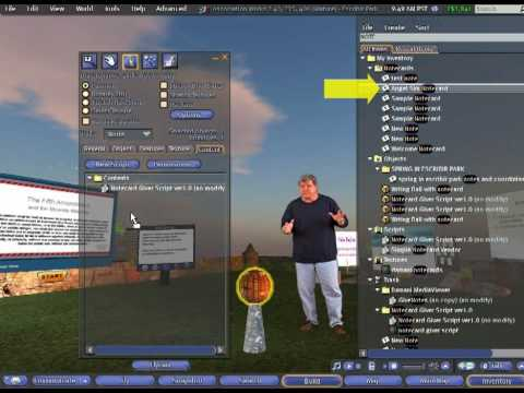Second Life: Build a Notecard Giver Prim with Script