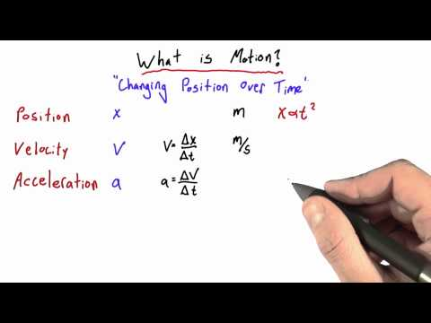 Equations of Motion - Intro to Physics - Motion - Udacity
