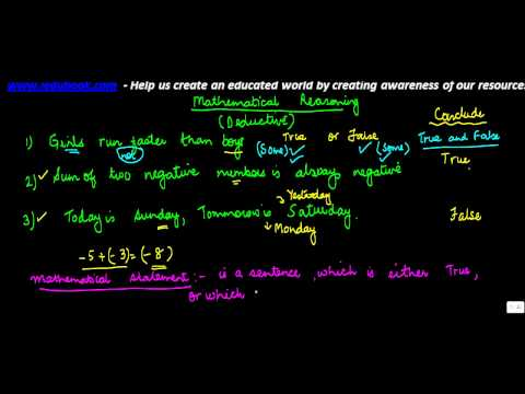 744.Concept of Mathematical statements