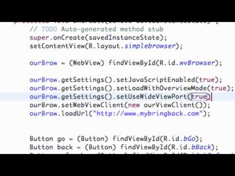 Android Application Development Tutorial - 92 - WebView Settings