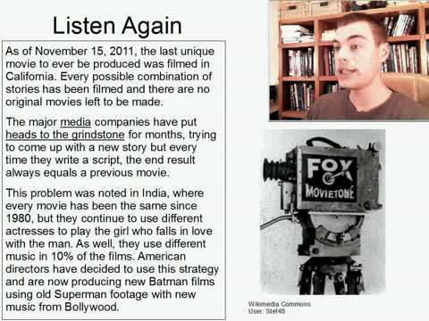 Intermediate Listening English Practice 8: No More Original Movies Forever