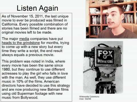 Intermediate Listening English Practice 8: No More Original Movies Forever