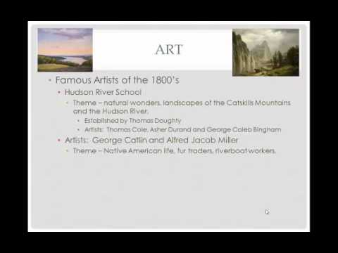 American Literature, Art and Music in the 1800s Review