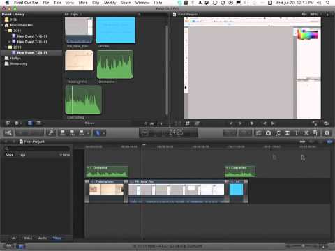Apple Final Cut Pro X Tutorial -  Editing a Clip with the Blade Tool