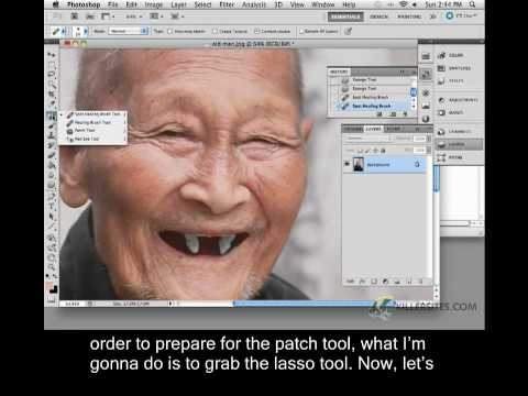 Photoshop CS5 Closed Captioned - Spot Healing Brush Tool