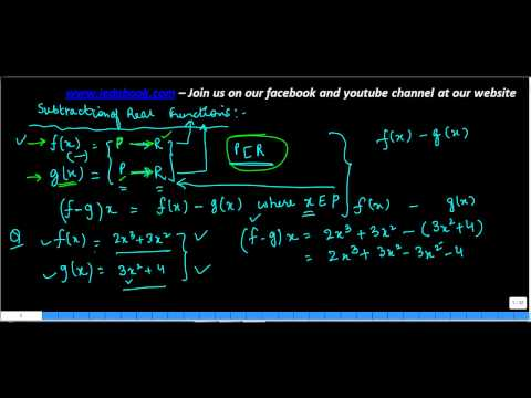 590.Class XI - CBSE, ICSE, NCERT -  Subtraction of Real functions