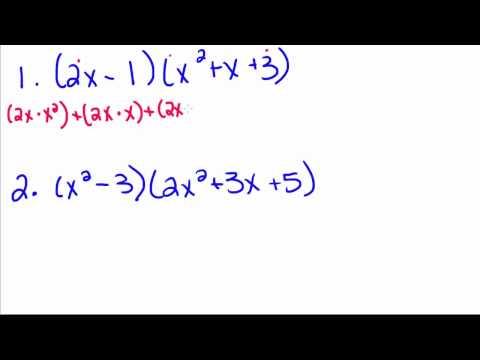 Algebra Tutorial - 16 - Multiplying Polynomials
