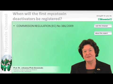 When will the first mycotoxin deactivators be registered?
