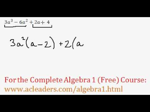 Polynomials - Factoring by Grouping Question #2