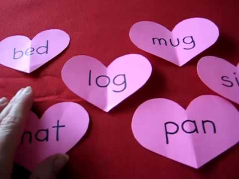 Valentine-phonetic hearts