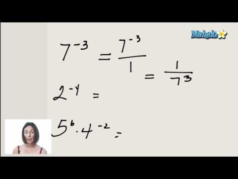 Working with Negative Exponents (ex.1)