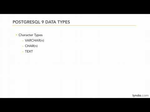 PHP, PostgreSQL: Understanding data types | lynda.com